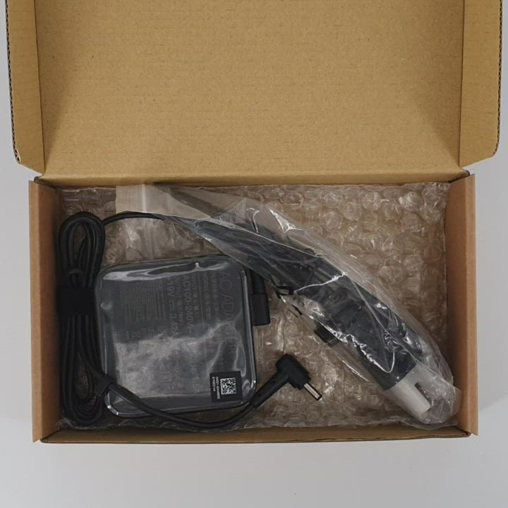 華碩 ASUS 65W 原廠變壓器 19V 3.42A 4.0*1.35mm 充電器 帶線 電源線 小孔徑 充電線 product video thumbnail