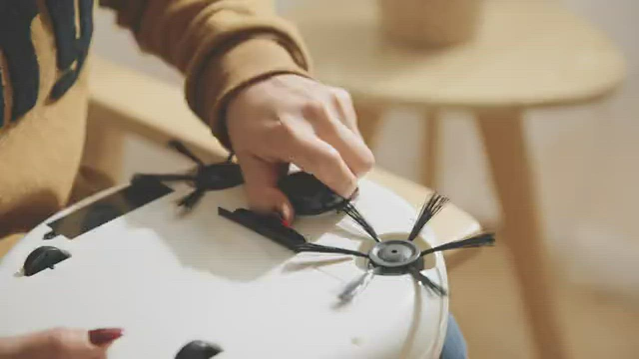 掃地機 懶人智能小型家用全自動擦地機拖地三合一體吸塵器歐堡智能掃地機 product video thumbnail