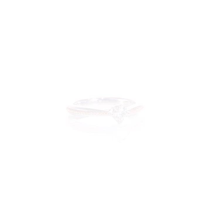 點睛品 Promessa 25分 加冕 18K玫瑰金鑽石婚戒求婚戒指 product video thumbnail